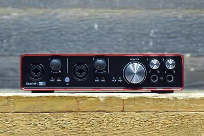 Focusrite Scarlett 6i6 MkII 6-In / 6-Out 2-Microphone Preamp USB Audio Interface