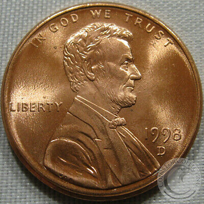 1998-D Unc Lincoln Memorial Penny Nice Coin **Make An Offer**