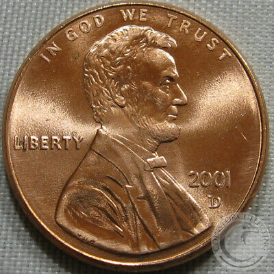 2001-D Unc Lincoln Memorial Penny Nice Coin **Make An Offer**