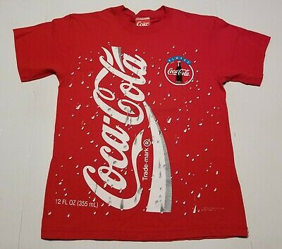 Vintage 1994 Coca Cola Coke Can 2-Sided All-Over Print Men's Large Shirt