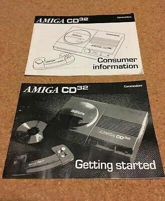 Commodore Amiga CD32 Original Manuals - Getting Started and Consumer Information