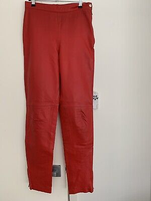Vintage Red Leather Pants Size 10 - Joshua Berger Private Collection edition