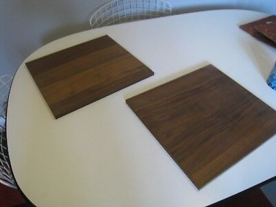 Pair 1960's Danish Modern Teak Interior Wall System, Cabinet Shelves