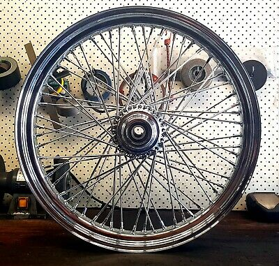 "21X3.25"" 60 SPOKE SINGLE DISC FRONT CHROME WHEEL HARLEY TOURING BAGGER 25mm AXLE"