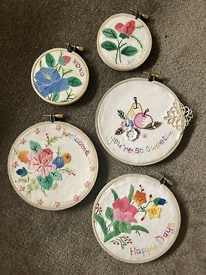 Hoop Art Vintage & New Embroidery Gift LOT