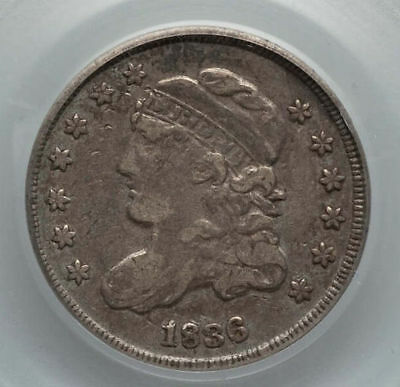 1836 5c PCGS VF 30  Capped Bust Half Dime Large 5c TRUE AUCTION starts ONE CENT