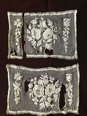 1820s -1850s FRENCH HAND EMBROIDERED STUNNING PIECES -SOLD AS DOCUMENT -L0