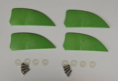 4 pieces of 2 inch fin for kiteboard kitesurfing kiteboarding, fly surfing