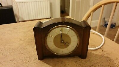 Vintage Westclox Electric Silent Mantle Clock With Second Hand / New Cable