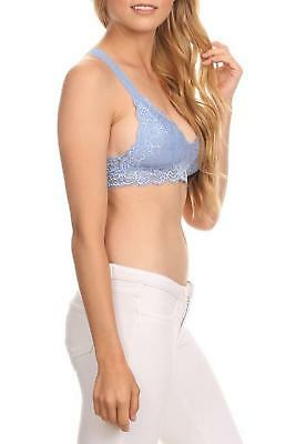 86a6b6b611995 Anemone Women s Racer Back Lace Bralette Baby Blue Medium