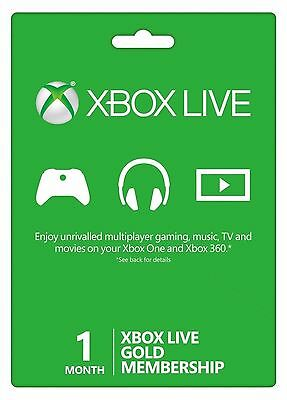 FAST DELIVERY Xbox Live One Month 1 Month Gold Membership Subscription PIN Code!