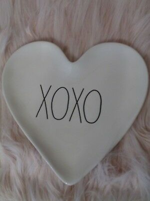 RAE DUNN XOXO Heart Shaped Plate Valentines Day NEW