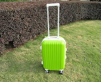 1X 20 Inch Green Universal Wheel Lock Travel Suitcase Luggage Bag