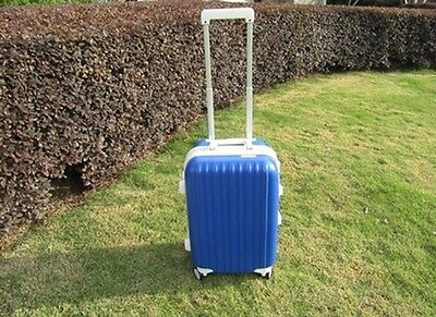1X 24 Inch Dark Blue Universal Wheel Lock Travel Suitcase Luggage Bag