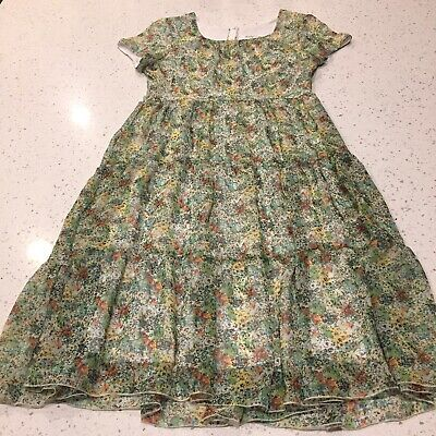 Vintage 80's Jody California Floral Boho Floral Dress Made In USA Size 8-10