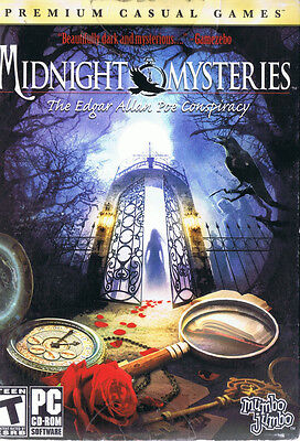 Midnight Mysteries: The Edgar Allan Poe Conspiracy (PC, 2009, SEALED NEW)