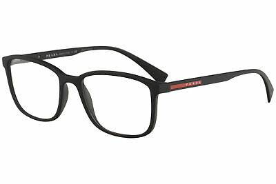 ec908fff16d Prada Linea Rossa Eyeglasses VPS04I VPS 04I DG0 1O1 Black Rub Optical Frame  55mm