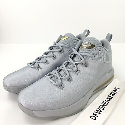 113c4b9e5a064b Nike Air Jordan CP3.X AE Men s 15 Grey Metallic Gold Basketball Shoes  897507-
