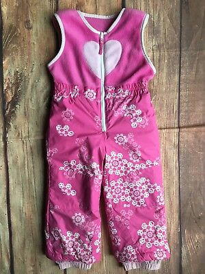 f9dc813b0 COLUMBIA OMNI SHIELD Toddler Girls Snowsuit Snow Pants Pink ...