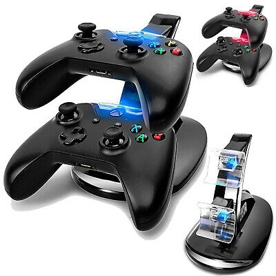 Dual USB LED Fast Charging Dock Station Stand for Xbox One/Xbox One S Controller