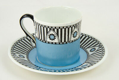 Set of 6 Colourful Art Deco 1920's Adderleys coffee cups – Cadorna pattern