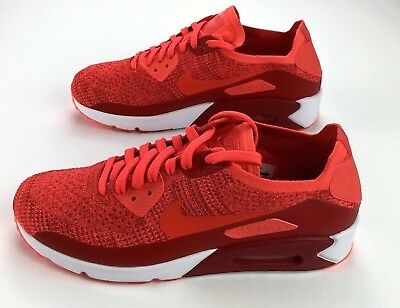 buy online 47b32 4bf67 Nike Air Max 90 Ultra 2.0 Flyknit Hommes Taille 13 Ans Chaussures Écarlate