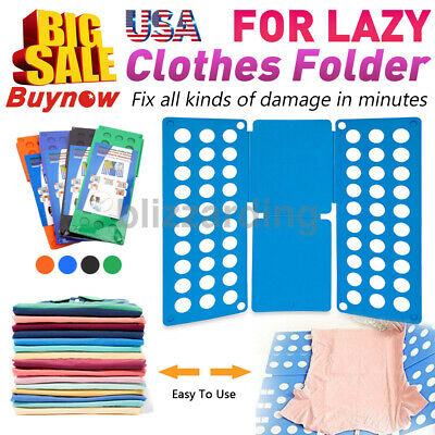 Clothes T-Shirt Flip Folding Board Fast Folder Laundry Organizer for Child Size
