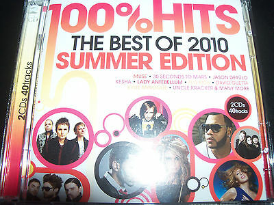 100% Hits Best Of Summer Edition 2010 Various 2 CD - Like New