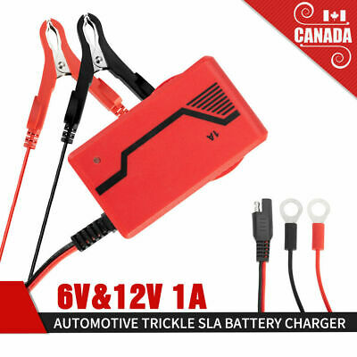 Automotive Trickle Smart Battery Charger 6V&12V Maintainer Car Truck Motorcycle