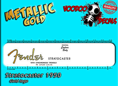 Stratocaster 50´s (Gold logo) Waterslide decal