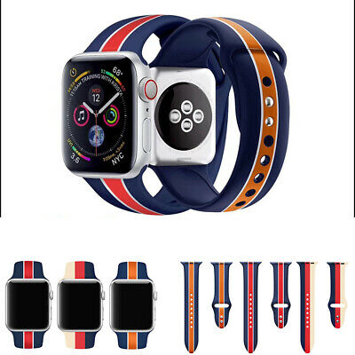 Sport Silicone Wrist Bracelet Band Strap For Apple Watch Series 4 3 2 1 38/42mm