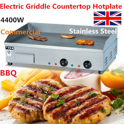 4400W Electric Griddle Countertop Hotplate BBQ Stainless Steel Commercial 73cm