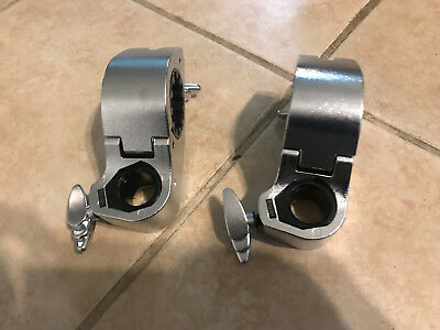 TWO Yamaha Hexrack Tom / Cymbal Clamp 7/8 in. Rack Clamps Hex Racks - HXTCI