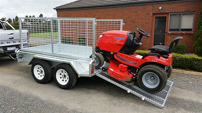 Galvanised 8x5 Tandem Trailer, Heavy Duty, 900mm Cage, Tailgate Ramp, NEW