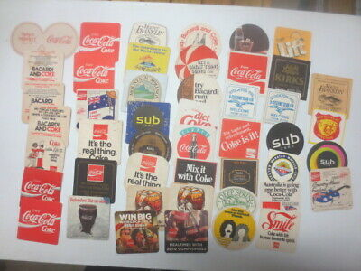 47 different  COKE COLA Australian Issue Advertising COASTERS