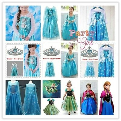 Hot Queen Kid's Girl's Cosplay Cosplay Costume Princess Party Fancy Dress