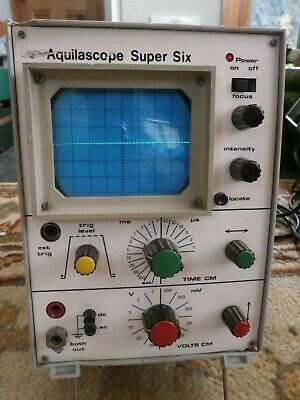 Vintage Aquilascope Super Six Oscilloscope Working Order Spares Or Repair