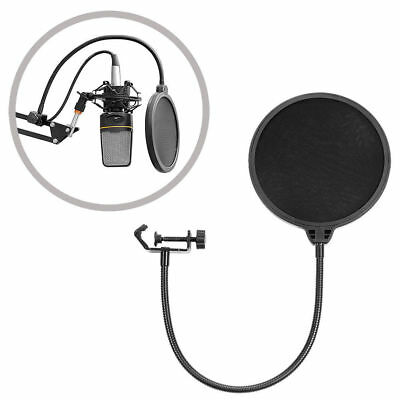 Double Layer Recording Studio Microphone Wind Screen Filter Mask Shield AU