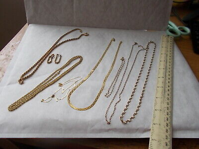 GOOD ASSORTMENT SOLID 9 CARAT GOLD CHAINS. READY TO WEAR OR SCRAP. WEIGH  29.8g