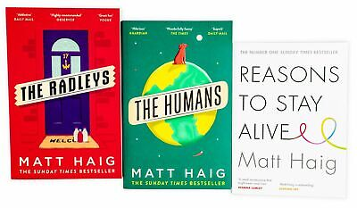 Matt Haig 3 Book Collection, Reasons to Stay Alive, The Radleys, The Humans