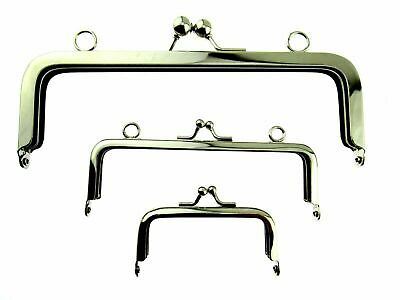 Silver Metal Purse Frames With Kiss Clasp and Holes