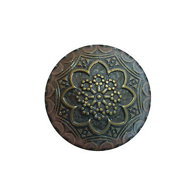 Bronze Coloured Metal Crested Dome Buttons with Shank