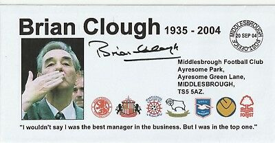 20 Sept 2004 Brian Clough In Memoriam  Football Cover