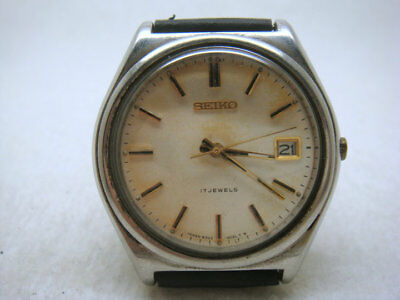 Vintage JAPAN Seiko 17 Jewels Manual Men's Watch,6302A(date)