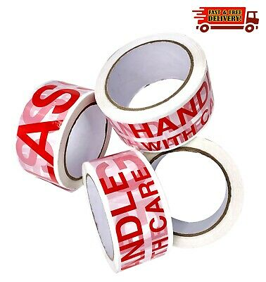 FRAGILE * GLASS * TAPE LOW NOISE 48mm x 66M LONG LENGTH STRONG PACKING PARCEL