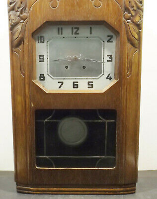Antique French Vendette-Westminster Regulator Pendule Wall Clock with Key