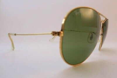 Vintage B&L Ray Ban aviator sunglasses size 58-14 etched BL made in the USA