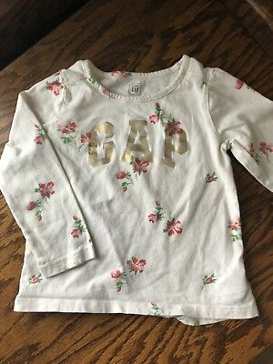 Baby Gap Girls Floral Shirt Size 3T