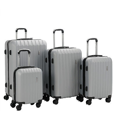 "4PCS Travel Luggage Set ABS 360° Spinner Bag Suitcase w/ Lock 16""/20""/24""/28"""