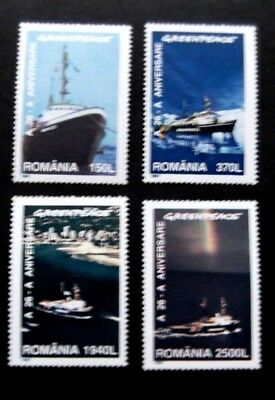 Romania-1997-Greenpeace Ships-Full set of 5-MNH